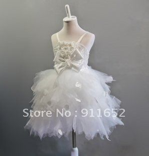 Free Shipping White Wedding Flower Girl Dress Party Ball Gown TUTU Dress Pettiskirt Photo Pro Girl's Dress on AliExpress.com. 10% off $28.71