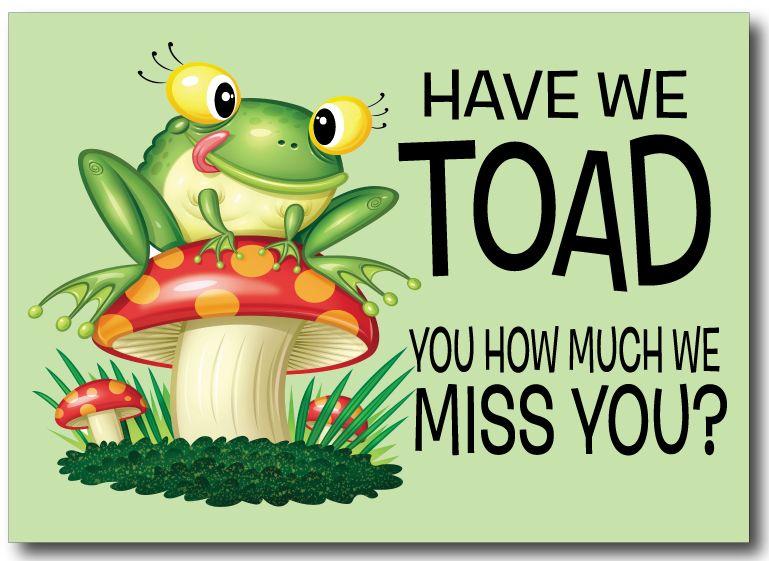 Image result for we miss you images frog