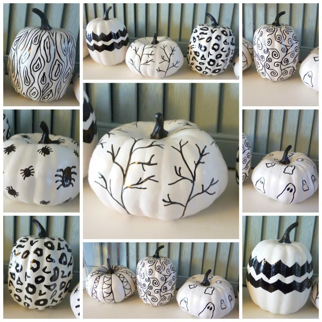 DIY Halloween  DIY Hand Sketched Sharpie Pumpkins DIY Halloween De - black and white halloween decorations