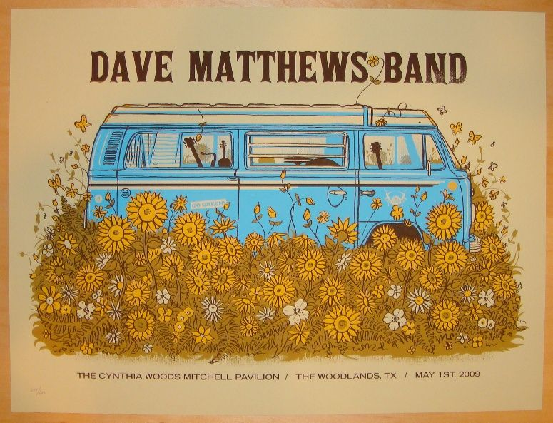 dave matthews band concert posters dave matthews band dave matthews band posters dave. Black Bedroom Furniture Sets. Home Design Ideas