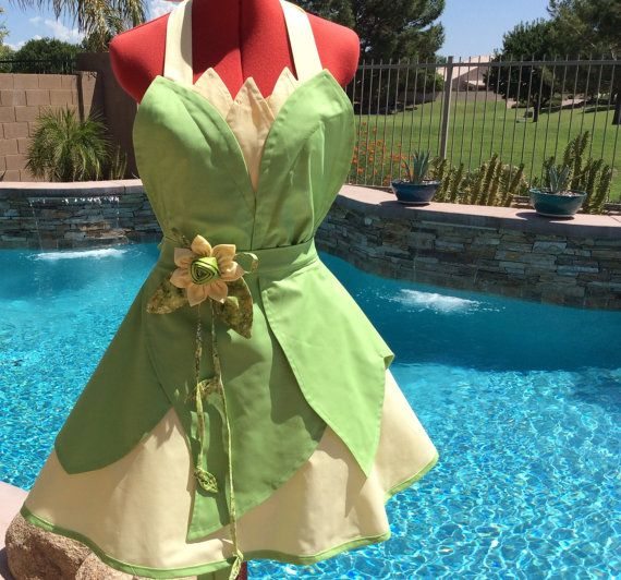 Princess Tiana Cooking: Whimsical Disney Character Aprons To Cook Up Some Fun