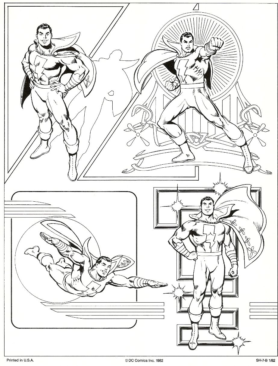José Luis García-López: DC Comics style guide for Captain Marvel ...