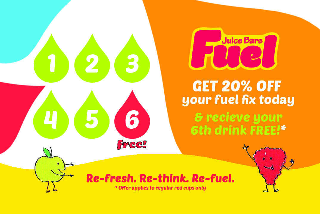 Another Back Of A Loyalty Card Concept Created For Fuel Juice Bars Uk