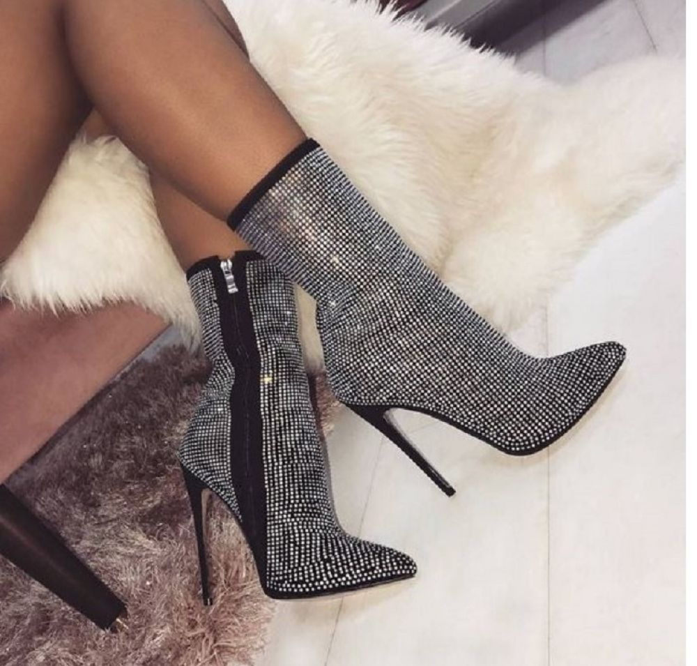 Women's Queen of the Night Rhinestones Ankle Boots  Price: 45.32 & FREE Shipping #Boots #womenBoots...