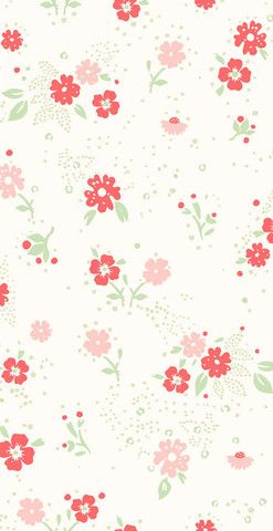 Small Flower Wallpaper By Helene Blanche F A B R I C S