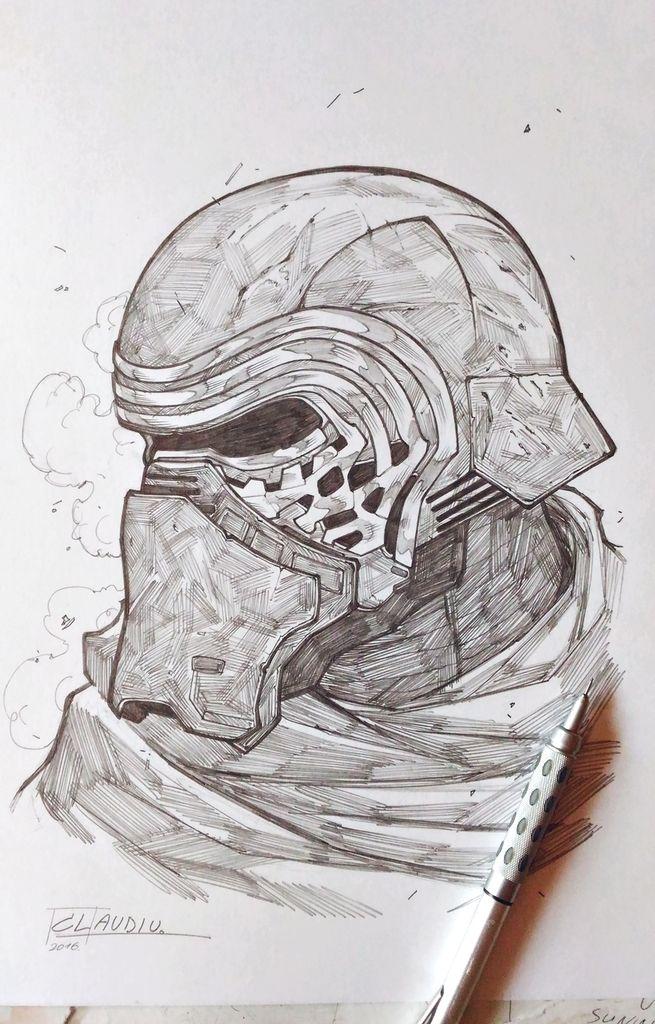 Darth Maul Boba Fett Kylo Ren Sketches Mejores Dibujos A Lapiz Dibujos Molones Dibujos Bonitos