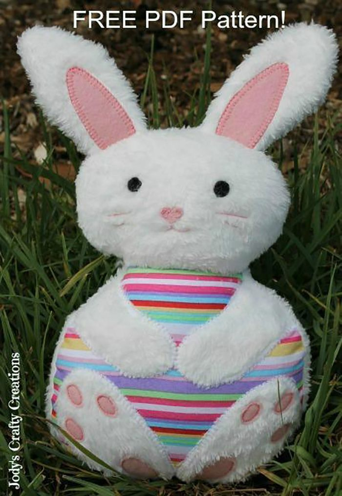 Free bunny pattern sewing pinterest bunny patterns and sewing make it cuddly easter bunny softie free pdf pattern stuffed toy pattern sewing handmade craft idea template inspiration felt fabric diy project maxwellsz