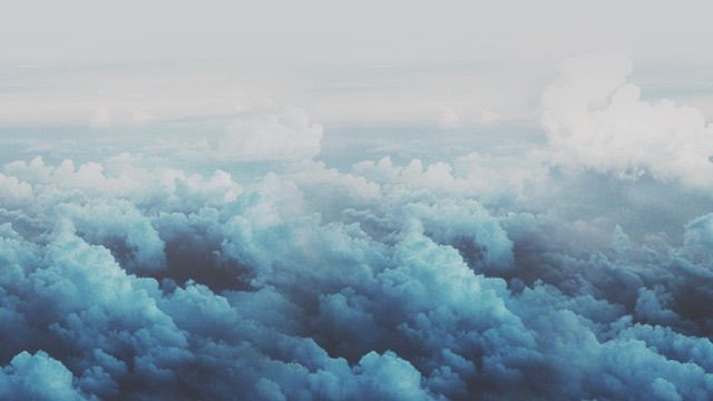 Aesthetic Blue Blueaesthetic Blueclouds Awan