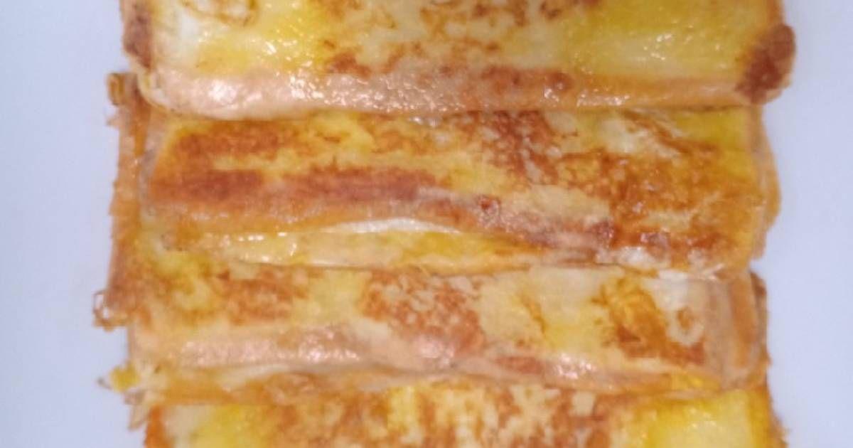 Resep Seri Roti French Toast Abon Bekal Sekolah Anak Oleh Jelita Resep Roti Panggang Rotis Resep