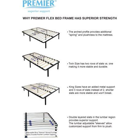 Premier Flex Platform Bed Frame With Adjustable Lumbar Support Multiple Sizes