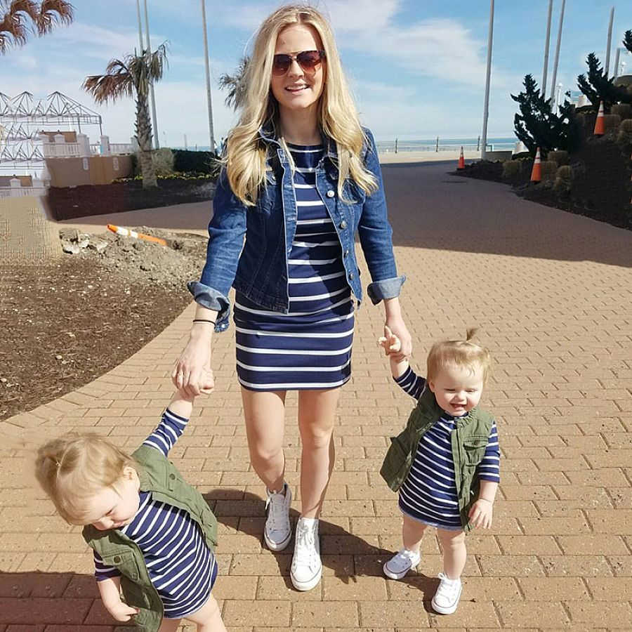 e838bdc6df Mom Girl Stripes Matching Dress #matching outfits mother daughter casual # matching outfits mother daughter clothes #matching outfits mother daughter  dresses ...