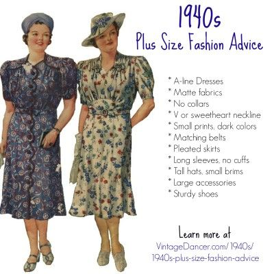 1940s Plus Size Fashion: Style Advice from 1940s to Today ...
