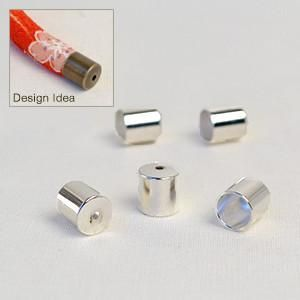 Capped Off-8mm- Bright Silver