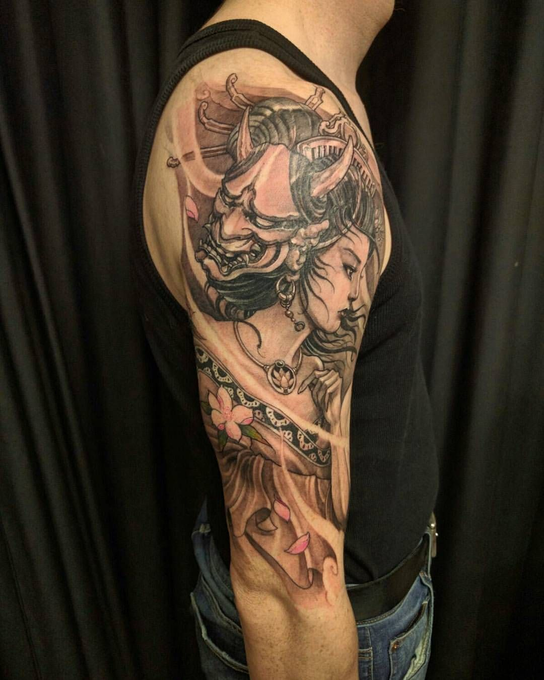 Another angle geisha chronicink asiantattoo asianink - Tattoos geishas japonesas ...