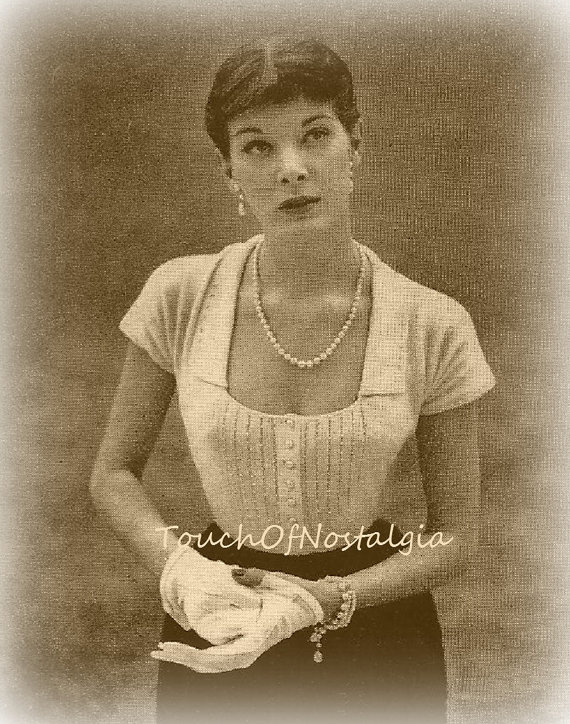Pearl EVENING Blouse Knitting Pattern Vintage by touchofnostalgia7, $4.57
