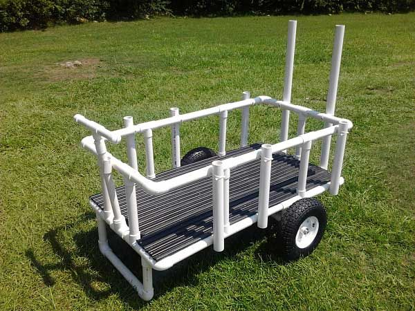 homemade fishing cart design this pvc homemade fishing