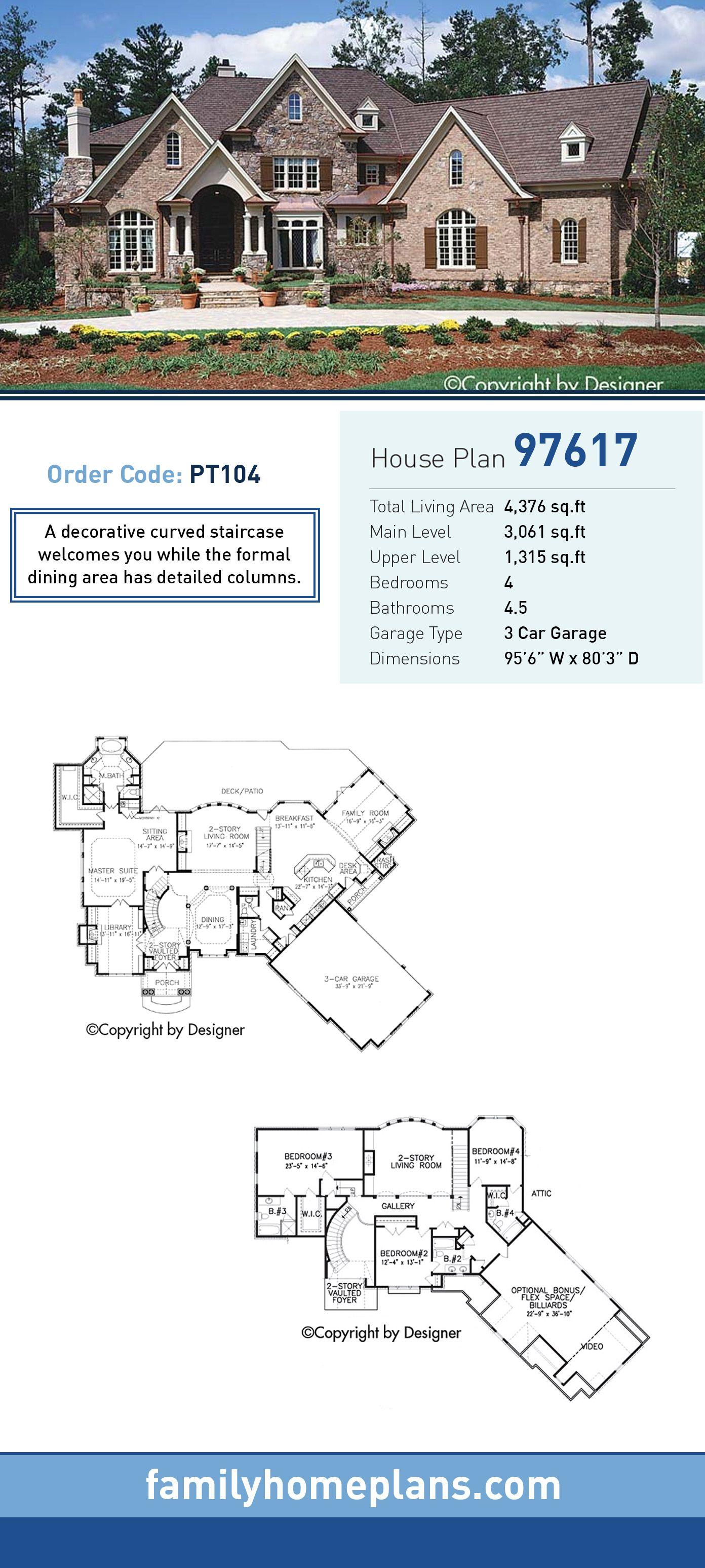 Craftsman House Plan 97617 Total Living