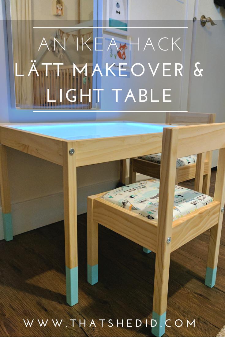 May 30 An Ikea Hack LÄtt Makeover Light Table Kids