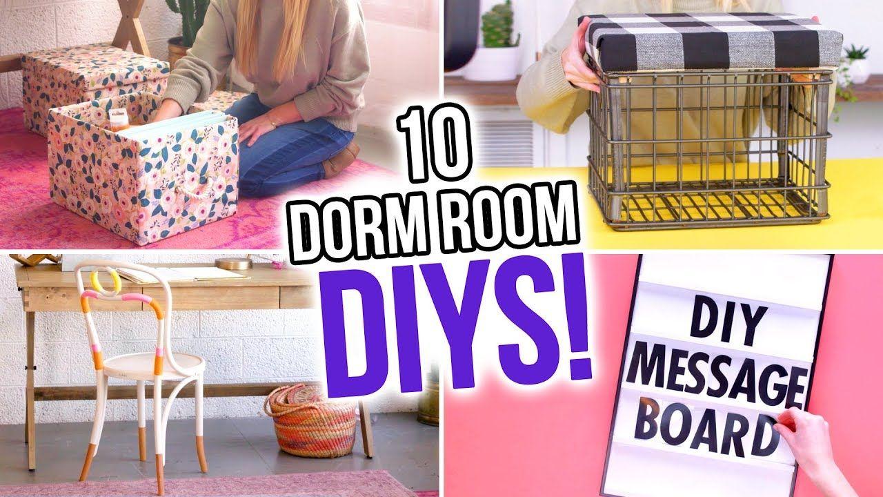 10 Diys For Your Dorm Room Hgtv Handmade Youtube