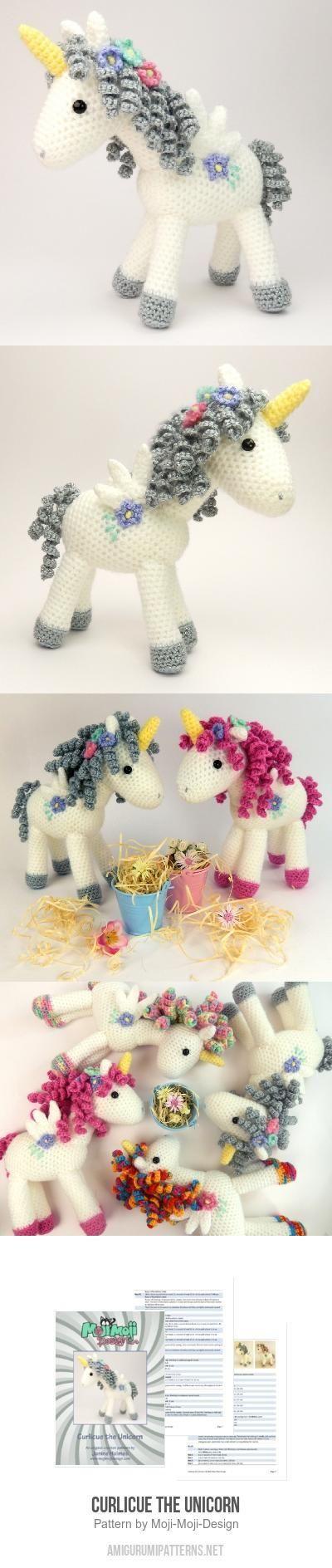 Curlicue The Unicorn Amigurumi Pattern - so adorable! | häkeln/Hasen ...