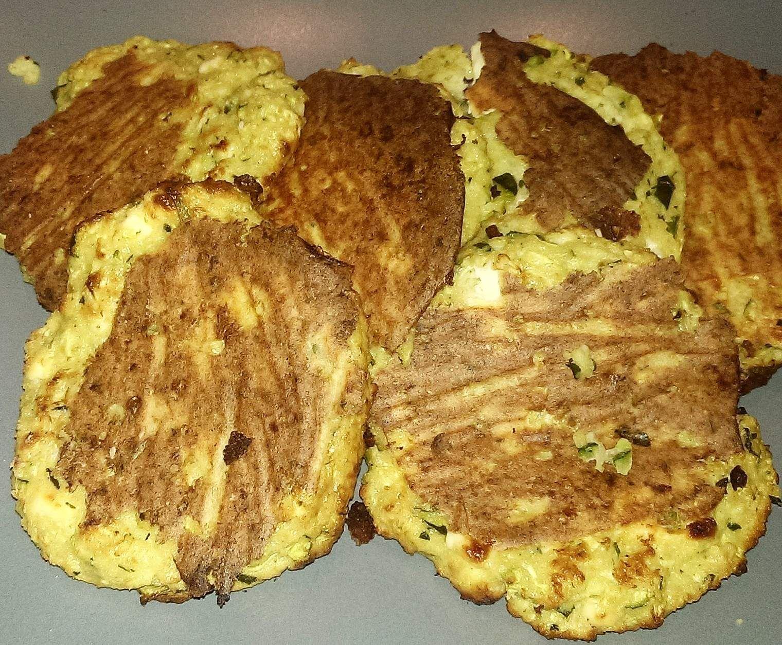 Recette Galettes courgette et Feta par biocris - recette de la catégorie Plats végétariens