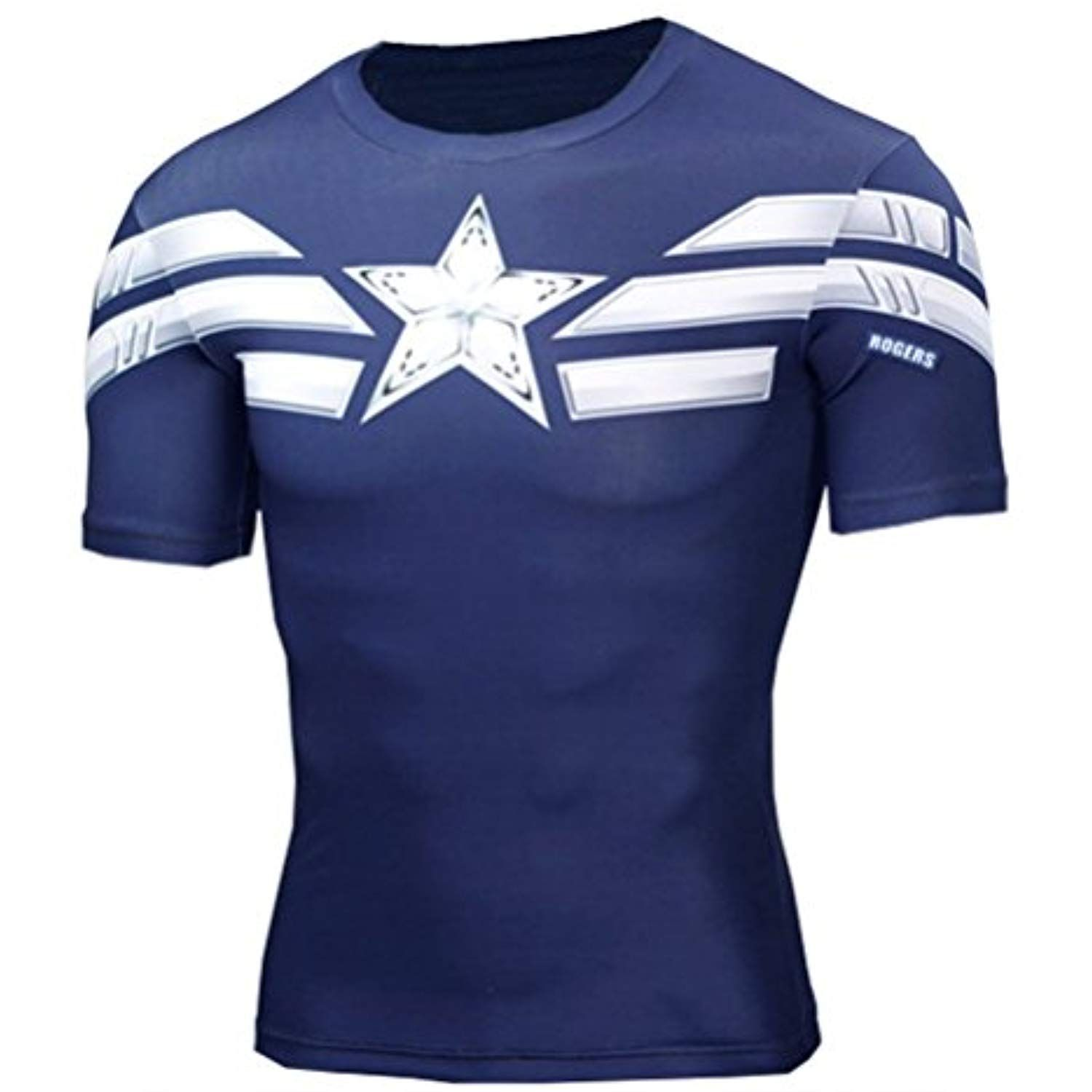 7a6aac0e5f Mens Superheros Captain America Compression Shirt Cool Running Gym Tee --  Read more reviews of the product by visiting the link on the image.
