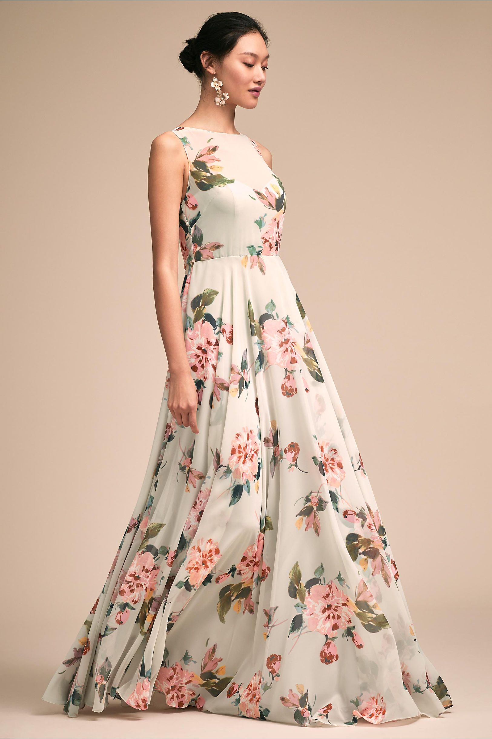 Bhldnus jenny yoo liz dress in pale sage multi products