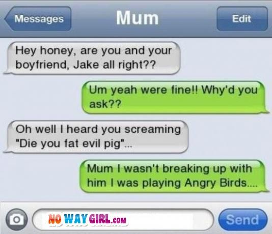 angry message for him