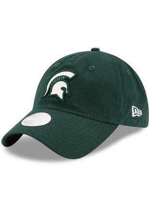 cheaper 37482 6a935 New Era Michigan State Spartans Green Team Glisten Adjustable Hat