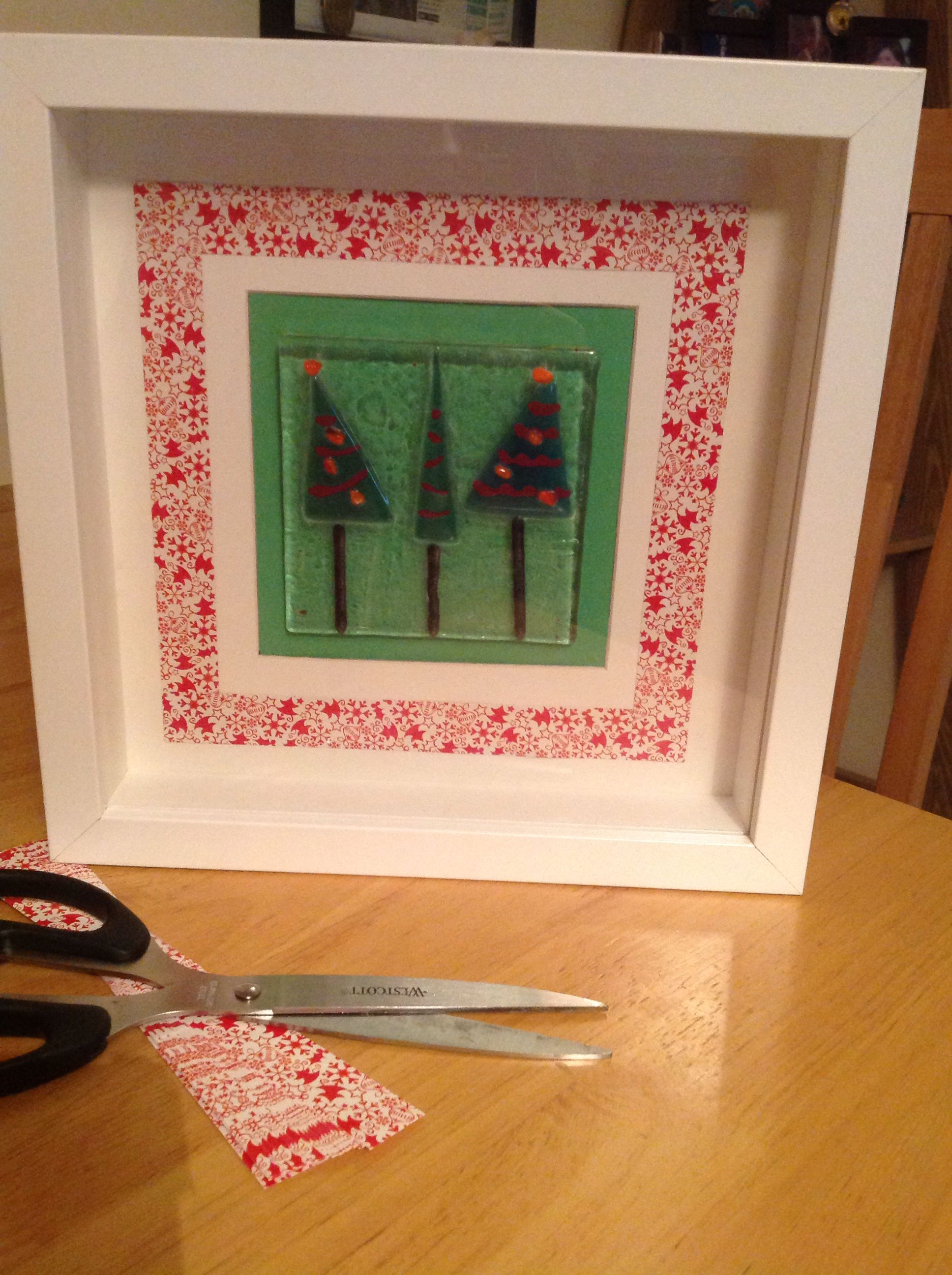 Christmas tree box frame - S. Walsh December 2013