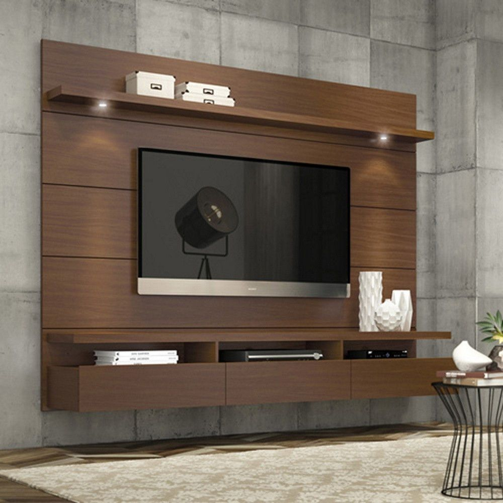 Elegant Transform Your Living Space With This Sleek And Clutter Free Entertainment  Center.