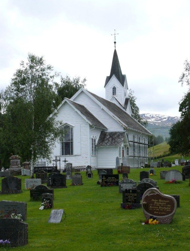 Hafslo church also called 'Long church' built 1878    Picture 1367