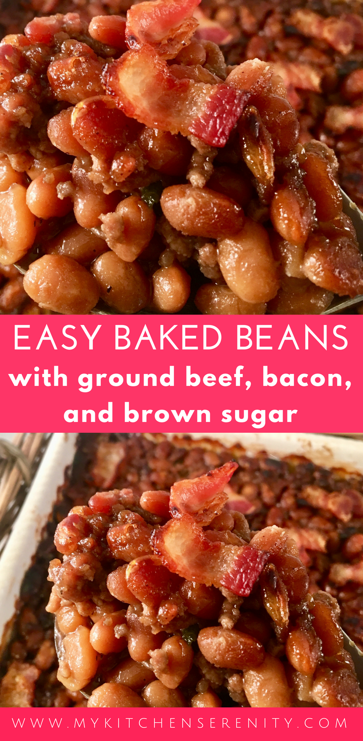 This Hearty Easy Baked Beans Recipe Is Very Easy To Put Together And Most Delicious Bakedbeans Easy Baked Beans Baked Bean Recipes Simple Baked Beans Recipe