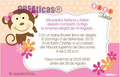 Tarjetas De Invitacion Para Baby Shower Niña Alojamiento