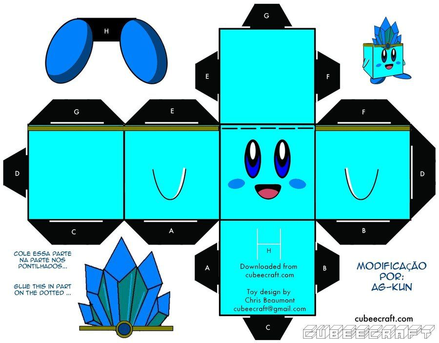 Ice Kirby Cubeecraft | Cubeecraft | Pinterest | Prismas ...