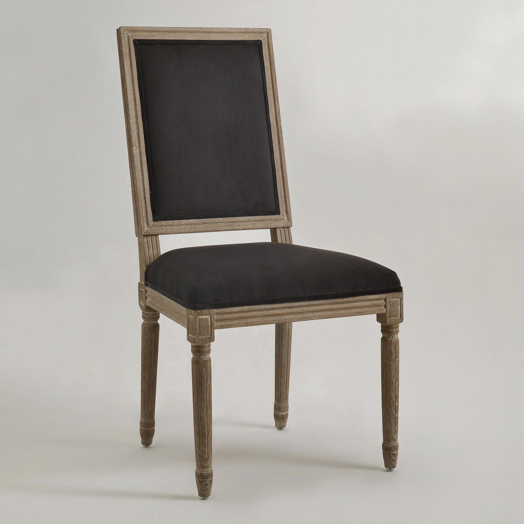 Black Square Back Paige Dining Chairs Set of 2