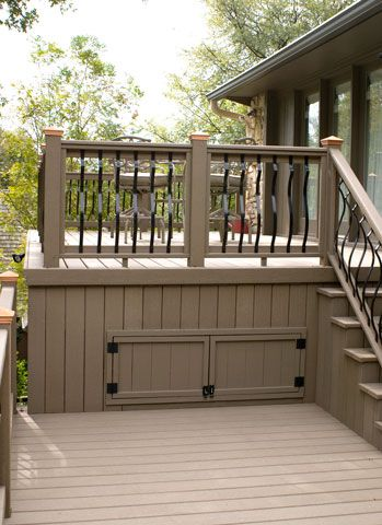 Under Deck Storage Small Backyard Gardens Deck Storage Backyard