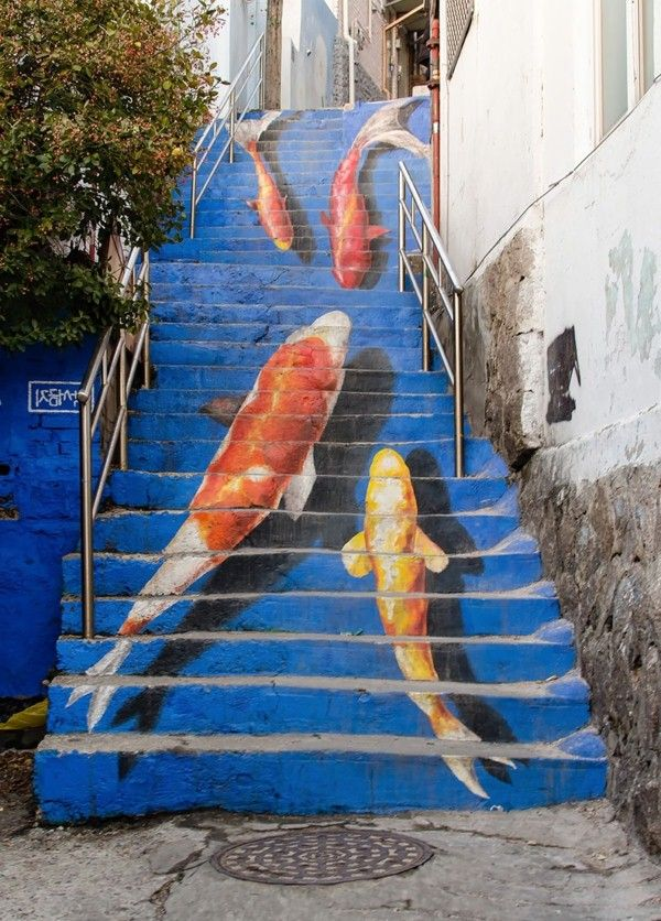 Best Creative Outdoor Stairs Art Stair Art Painted 400 x 300