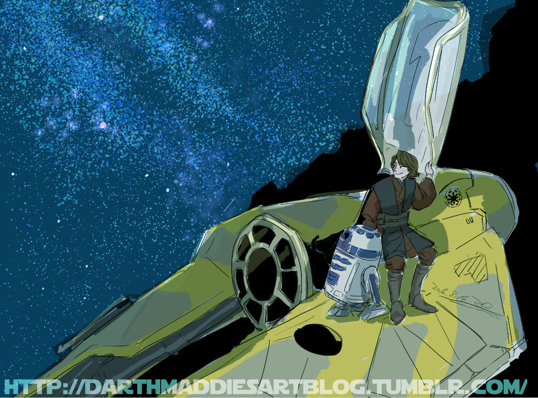 Anakin and R2