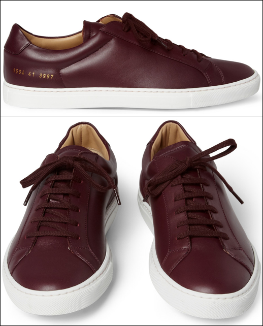 watch effcb 10c1e Common Projects Leather Low Top Sneakers