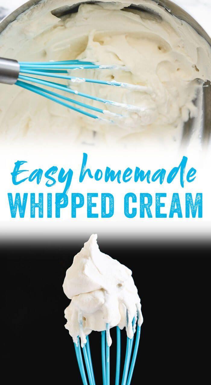 Homemade Whipped Cream Recipe (Bookmark It!) – A Couple Cooks