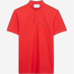 Photo of The Kooples red slim fit polo shirt with officer's collar – Damenthekooples.com