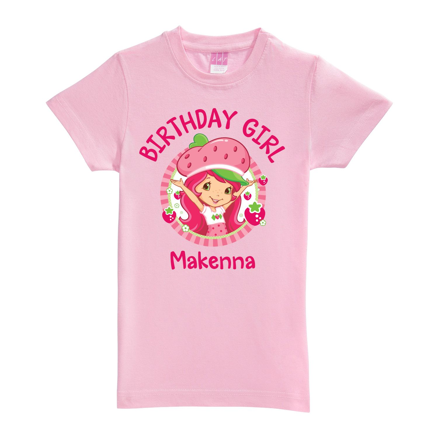8575aab7e Strawberry Shortcake Birthday Girl Pink Fitted Tee - T-Shirts - Clothing    Tv's…