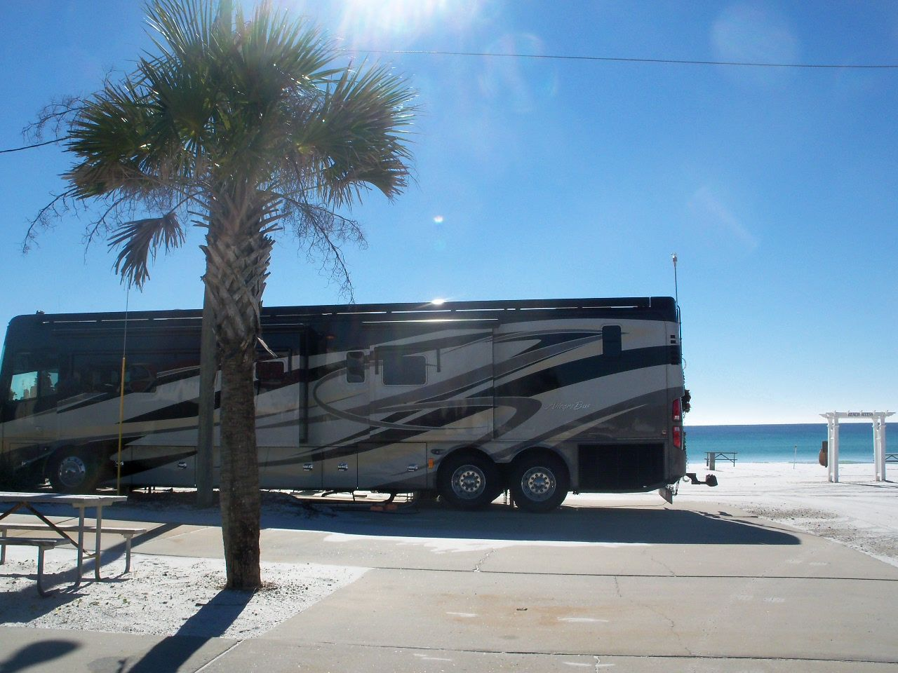 Site 556 At Camp Gulf In Destin Fl Http Www Rvsooners Blogspot Com Camping Recreational Vehicles Campground