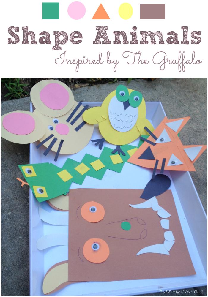 Gruffalo Themed Shape Animals Inspired by Author Julia Donaldson ...