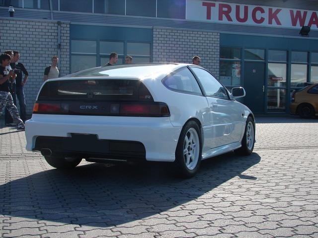 CRX white on white mugen kit   cars we love   Honda crx