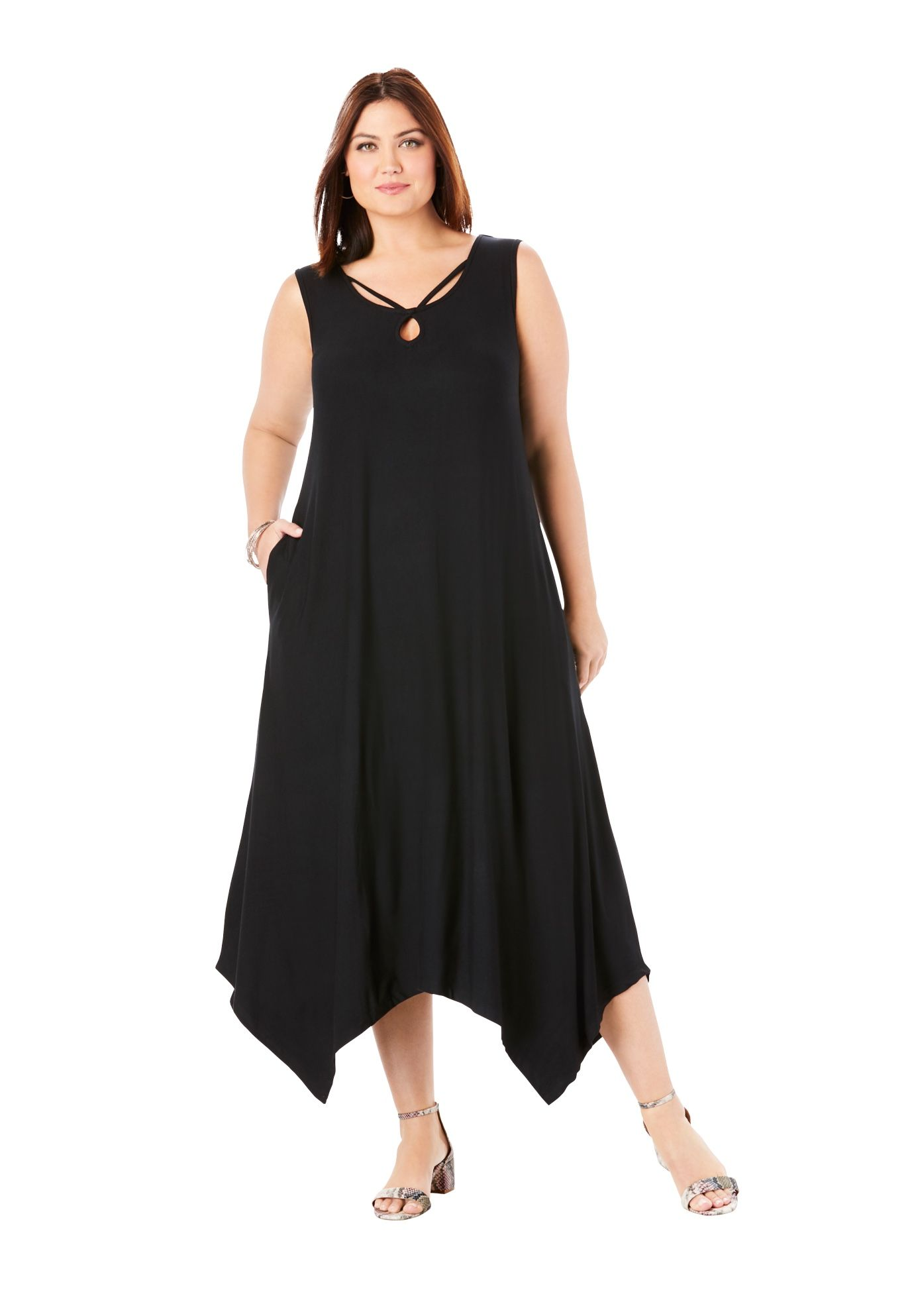 Jessica London Jessica London Women S Plus Size Knit Maxi Dress Walmart Com Maxi Knit Dress Dresses Flattering Dresses [ 1986 x 1380 Pixel ]