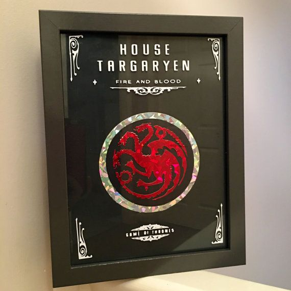 Game of thrones house targaryen 6x4 frame by Beyondcosmicshop | Film ...