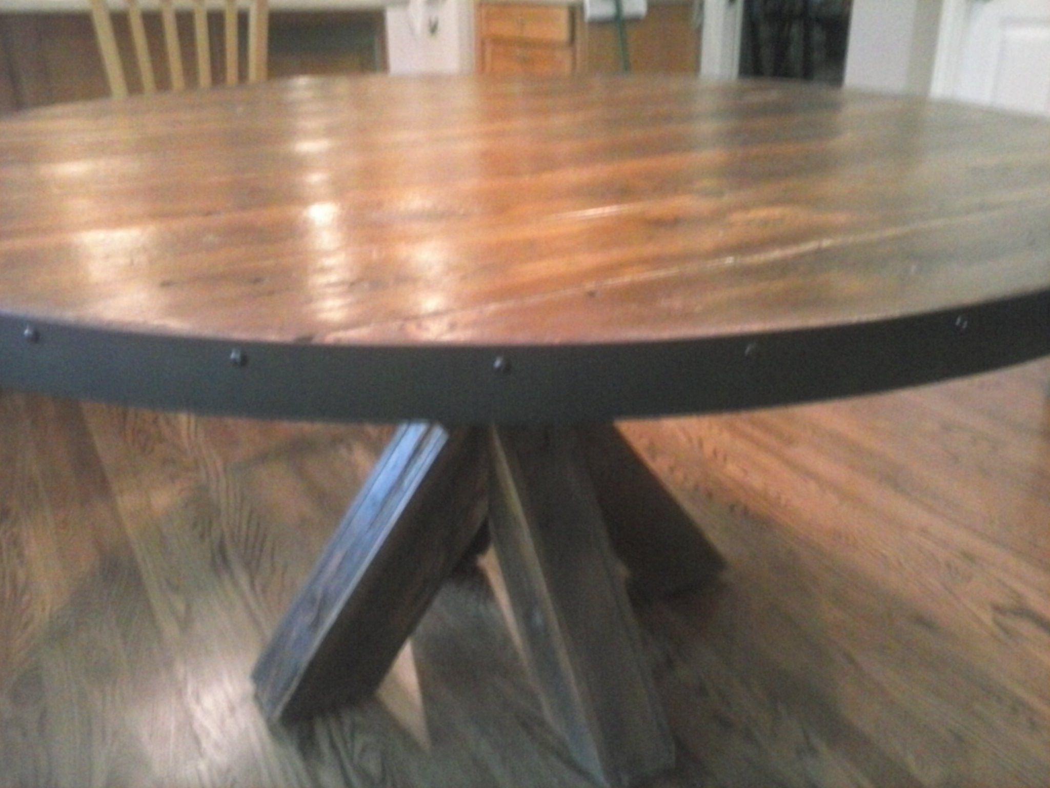 custom made barn wood kitchen table for the home garage rh pinterest com