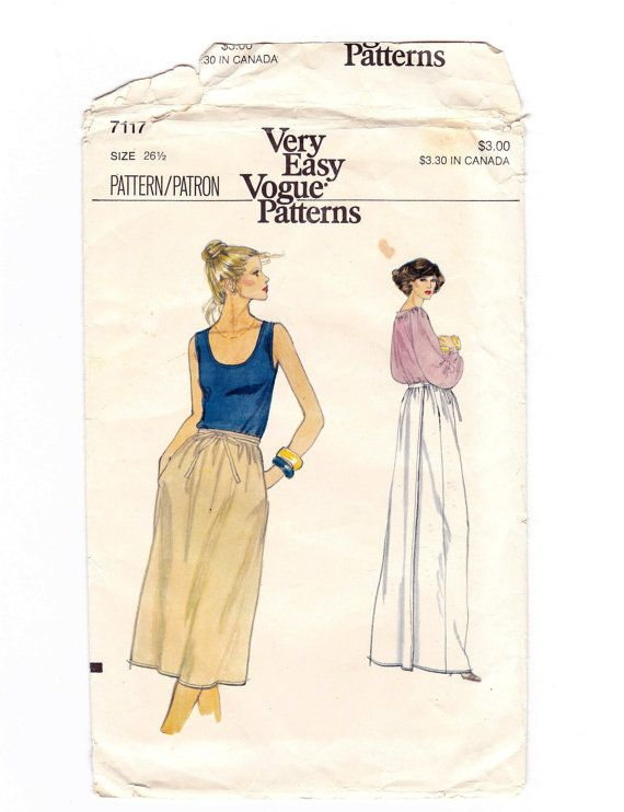 Wrap Skirt Wrap Skirt Pattern Very Easy Vogue by OldSoulVintageltd ...